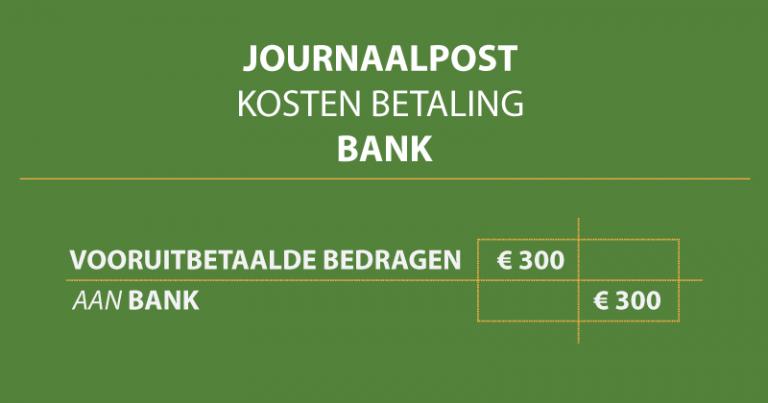 weergave journaalpost betaling per bank